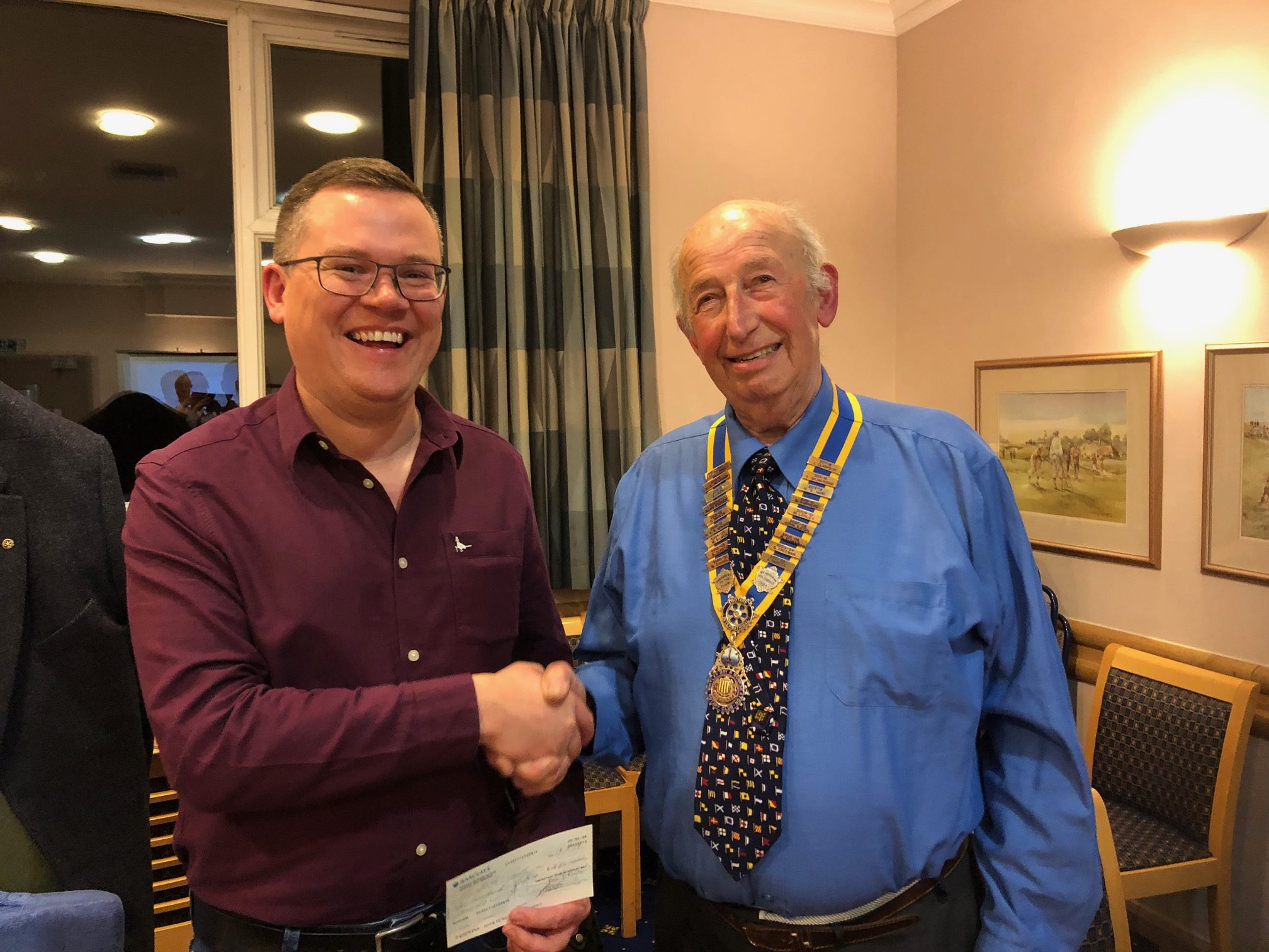 Rotary support for Linskill