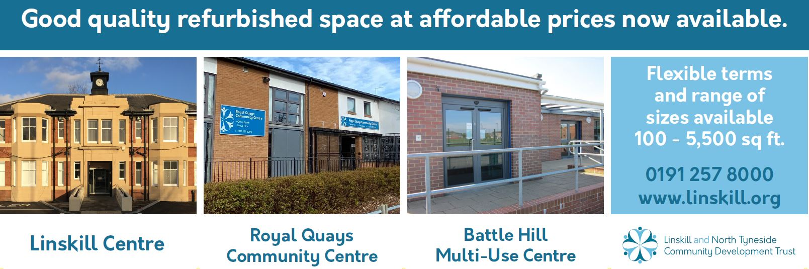 Refurbished space now available at the Linskill Centre