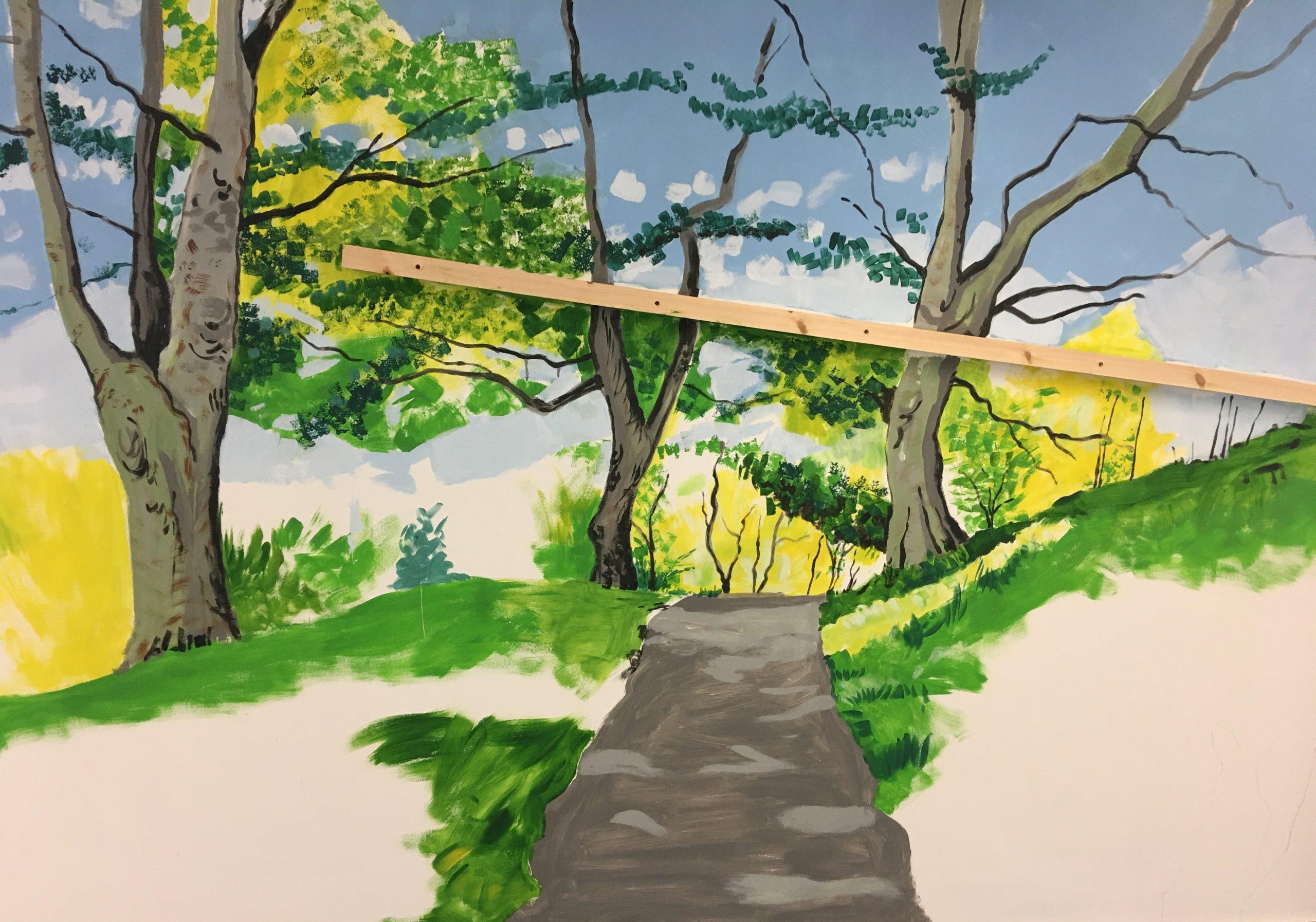 New wall mural for Linskill Nursery